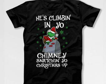 Funny Christmas Gifts Grinch T Shirt Holiday Presents Xmas TShirt Christmas Humor Happy Holidays Merry Xmas Outfit X-Mas TEP-529