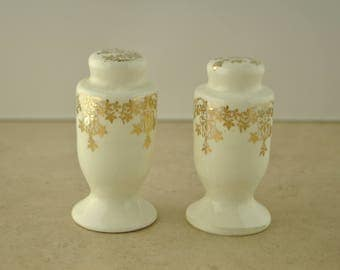 Ceramic Gold Leaf Salt and Pepper Shakers