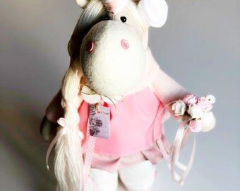 Baby gift doll Animal toy Gift ideas for baby Rag doll  Cloth doll  Soft doll  Handmade doll Art doll Baby girls gift