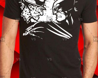 Freddy Kruege vs Wolverine Svg png, EPS, PDF, AI, gift, holiday, Adidas, Reindeer, silhouette, clipart, vector, instant download