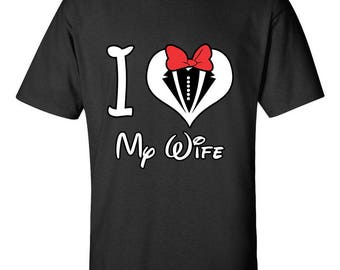 I Love My Wife Relations Printed Couple Goals Top Best Seller Designed Cotton Men Size Unisex T-Shirts for Men and Women