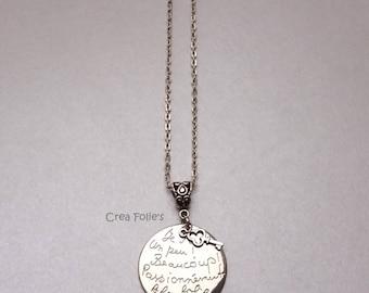 Necklace Medallion I love you... etc.