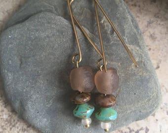 Rustic artisan earrings