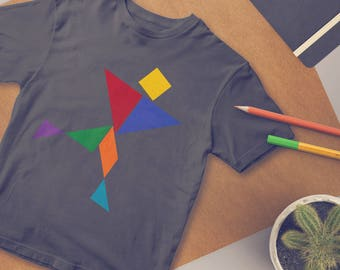 Tangram Artist - Create Your Own T-Shirt kit