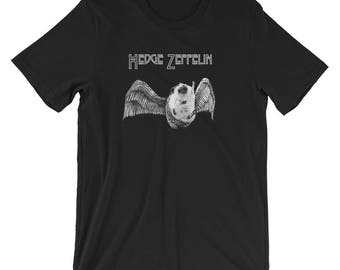 Hedgehog Rock 'n Roll Shirt - Hedge Zeppelin Hedgie Metal Short-Sleeve T-Shirt of Awesomeness by Urchin Wear