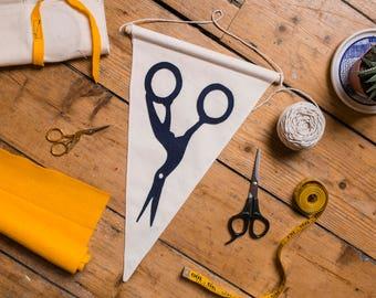 Stork Scissors Craft Flag