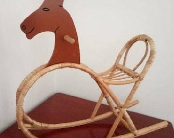 wicker rocking chair hourse willow chair kids child handmade chair wicker rocker