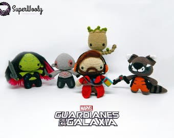 Amigurumi of the Guardians of the Galaxy