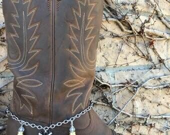 Revolver & Bullet Casing Boot Bracelet