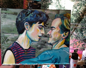 """Call Me By Your Name Original Painting 20 x 16"""" Portrait on Canvas"""