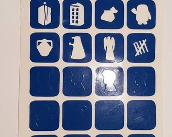 Doctor Who Assorted Nail Vinyls