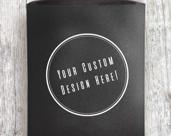 Custom Designed Wedding Koozies/Favors - Multiple Colors (TWO-SIDED Design Included)