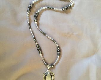 Onyx and Hematite Beaded Necklace