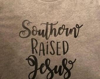 Souther Raised Jesus Saved Tee