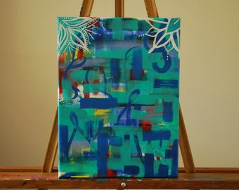 "Uncomplicated - 9"" x 12"" Canvas Painting"