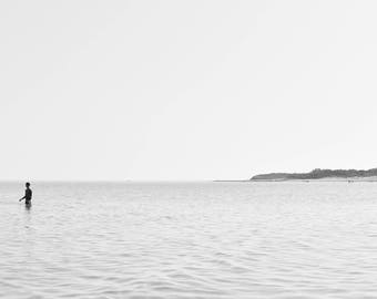 Black and White Water View