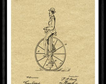 Gift early bicycle etsy antique 1800s bicycle patent art print home decor art poster bicycle blueprint art malvernweather Images