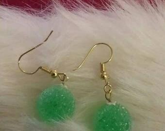 Christmas gum drop earrings