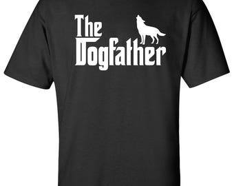 The Dogfather Siberian Husky Dog Logo Graphic TShirt