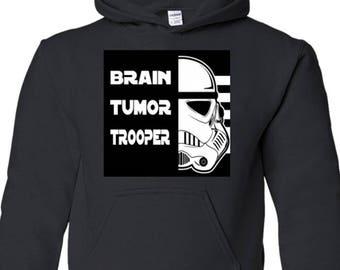 Brain Tumor Kids Hooded Sweatshirt Custom Order Exclusive Design