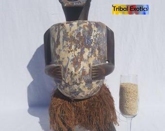 TRIBAL EXOTICS : PREMIUM Authentic fine tribal African Art - Ambete Mbete Mbeti Reliquary Figure Sculpture Statue Mask