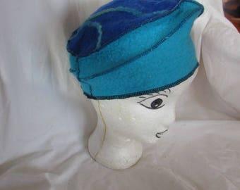 Filzmütze Turquoise/Blue