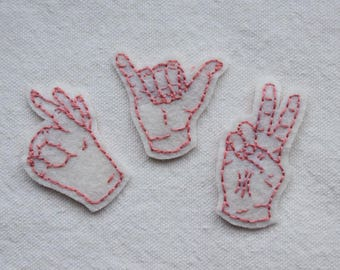 hand sign patch