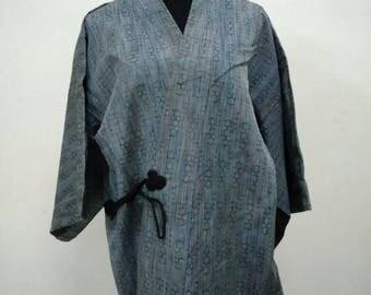 Japanese haori kimono blue kimono jacket /kimono cardigan/kimono robe/#025
