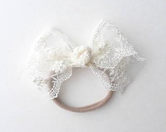 Lace Bow (Headband)