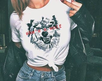 She's A Wolf Tshirt Feminist As Fuck Shirt Feminist AF Tshirt Feminism Tumblr Shirts Women's Clothing Gifts For Her