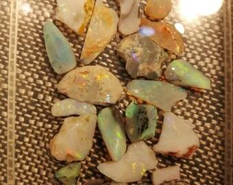 Australian opal rough and rubs