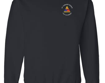 1st Armored Division Embroidered Cotton Sweatshirt-3955