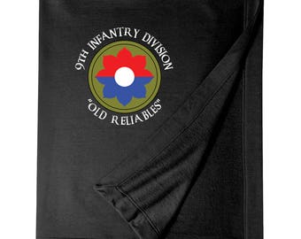 "9th Infantry Division ""Old Reliables"" Embroidered Blanket-4109"