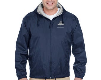 US Army Master HALO Embroidered Fleece-Lined Hooded Jacket-7740
