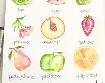Fruit of The Spirit Watercolor