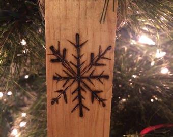 Snowflake Christmas Ornament, Rustic Tree Decorations