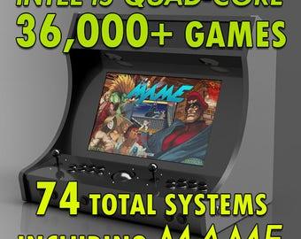 Custom Bartop Multicade Video Game Arcade Machine, MAME, HyperSpin