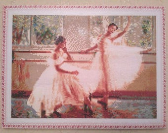 Completed diamond embroidery 'Ballerinas'