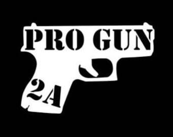 Pro Gun decal sticker Laptop Window Car Truck Motorcycle Biker Moto Sale guns Ammo weapon Bullet