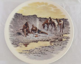 """Vintage Frederic Remington Collection Plate """"A New Year on the Cimarron"""""""