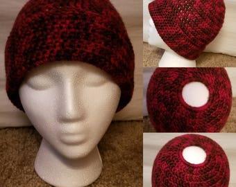 Red Bun Beanie/Hat
