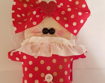 "Grungy Love Bug ""Love Bug Lola"" - A Rag Doll made with love Valentine"