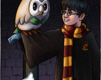Harry and Rowlet