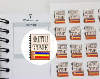 48 sketchbook sticker, artists planner sticker,art class,art student sketchbook,sketch class,pencil art,planner stickers ------M162P
