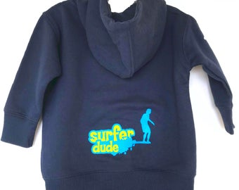 Surfer Dude Boy Zip up hoody sweatshirt
