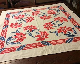 Vintage luncheon cloth