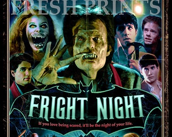 Fright Night A3 Movie Poster print
