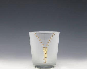 XYZ Zipper Double Old Fashioned Glass - A slightly naughty but way fun way to enjoy your cocktail!