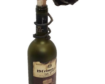 Wine Bottle Rose Decoration