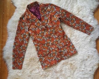 sz. S | Vintage Floral Blazer, Jacket